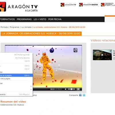 Como descargar videos de AragonTV
